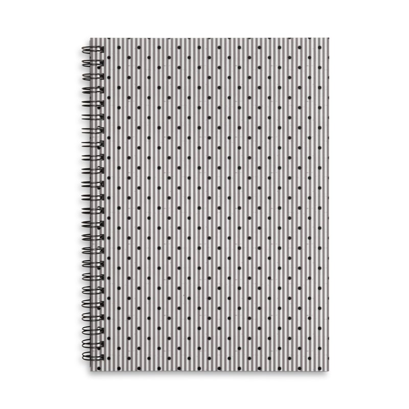 Dots and stripes Accessories Lined Spiral Notebook by Lidflutters