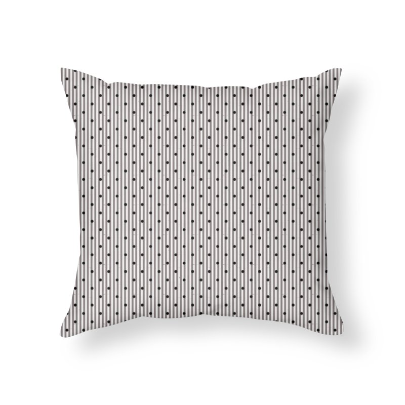 Dots and stripes Home Throw Pillow by Lidflutters
