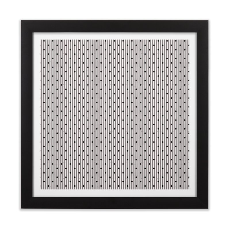 Dots and stripes Home Framed Fine Art Print by Lidflutters