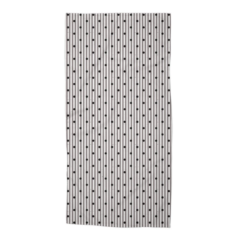 Dots and stripes Accessories Beach Towel by Lidflutters