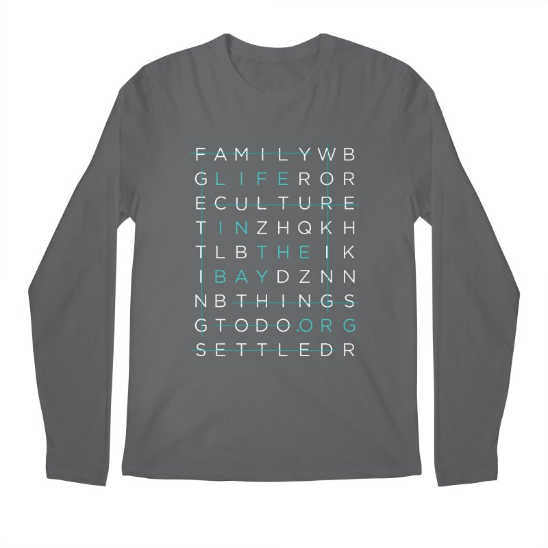 Crossword - #lifeinthebay Men's Regular Longsleeve T-Shirt by #lifeinthebay
