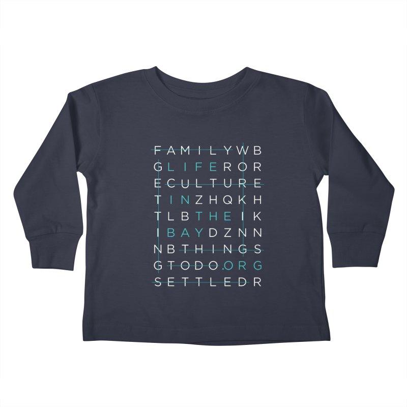 Crossword - #lifeinthebay Kids Toddler Longsleeve T-Shirt by #lifeinthebay