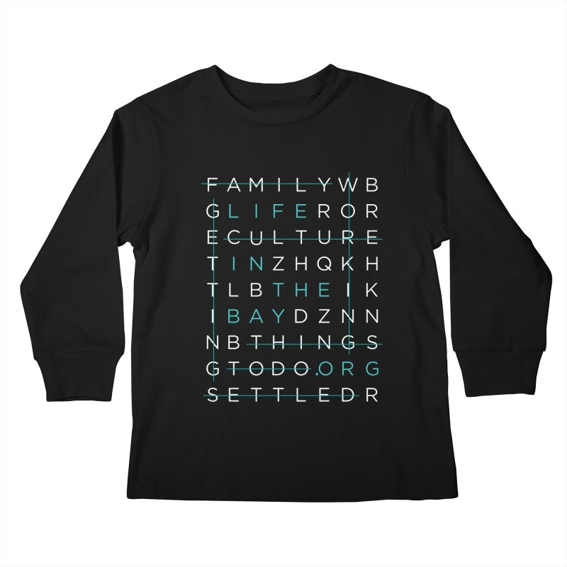 Crossword - #lifeinthebay Kids Longsleeve T-Shirt by #lifeinthebay