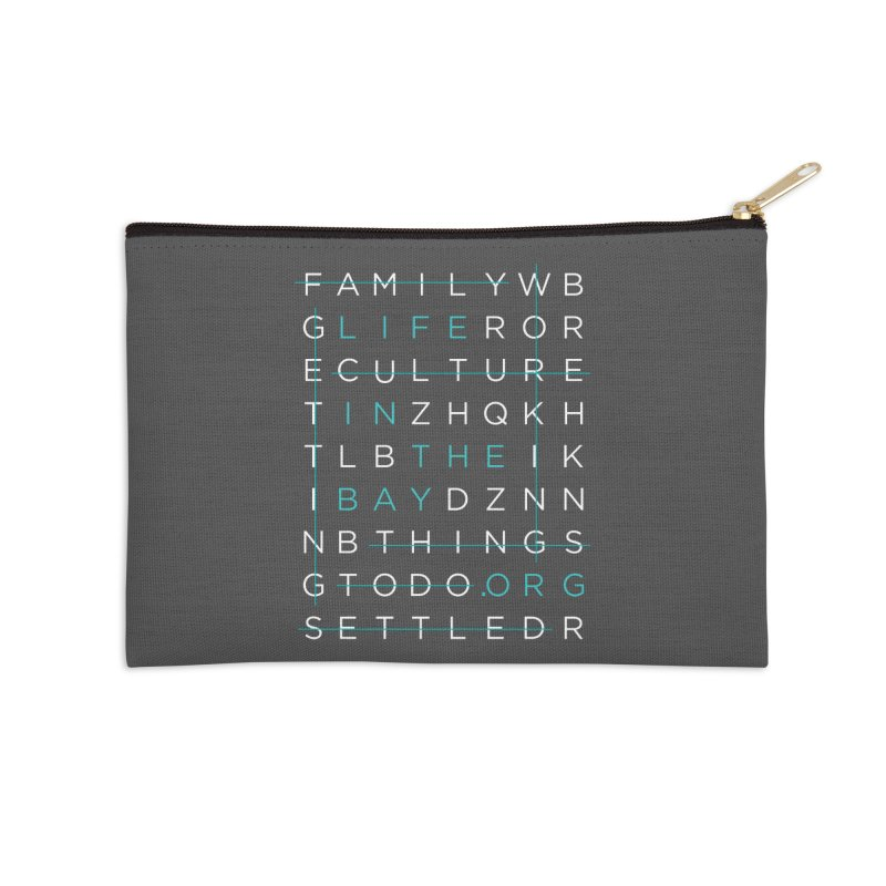 Crossword - #lifeinthebay Accessories Zip Pouch by #lifeinthebay