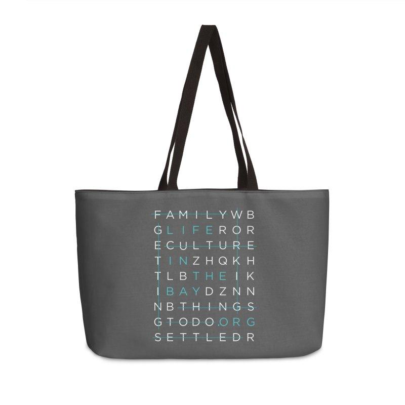 Crossword - #lifeinthebay Accessories Weekender Bag Bag by #lifeinthebay