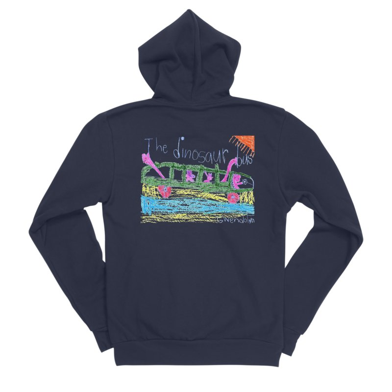 The Dinosaur Bus Women's Sponge Fleece Zip-Up Hoody by The Life of Curiosity Store