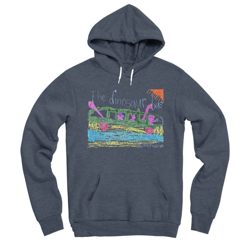 The Dinosaur Bus Women's Sponge Fleece Pullover Hoody by The Life of Curiosity Store