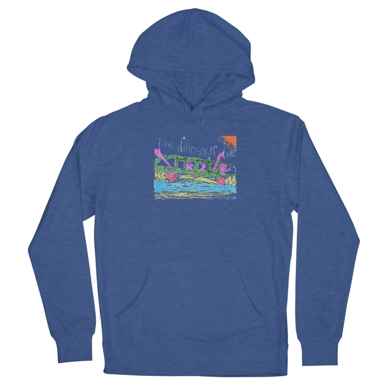 The Dinosaur Bus Men's French Terry Pullover Hoody by The Life of Curiosity Store