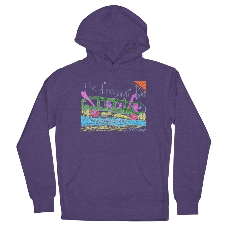 The Dinosaur Bus Women's French Terry Pullover Hoody by The Life of Curiosity Store