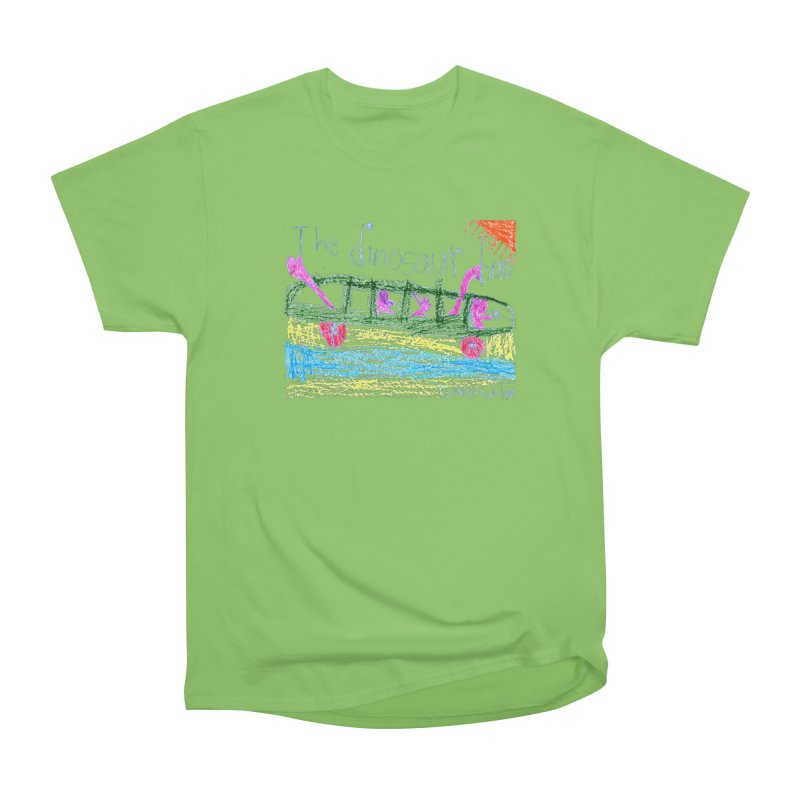 The Dinosaur Bus Women's Heavyweight Unisex T-Shirt by The Life of Curiosity Store