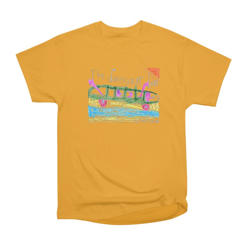 The Dinosaur Bus Men's Heavyweight T-Shirt by The Life of Curiosity Store