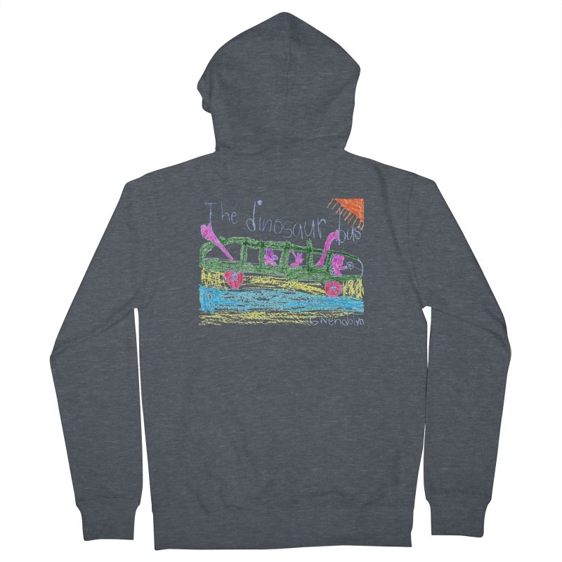 The Dinosaur Bus Women's French Terry Zip-Up Hoody by The Life of Curiosity Store