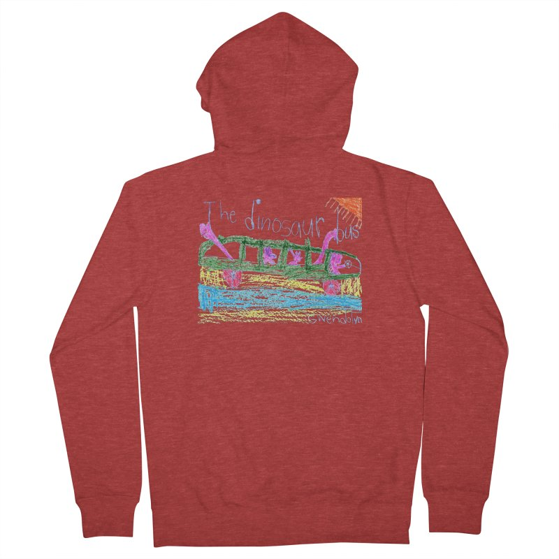 The Dinosaur Bus Men's French Terry Zip-Up Hoody by The Life of Curiosity Store