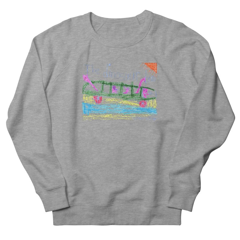 The Dinosaur Bus Women's French Terry Sweatshirt by The Life of Curiosity Store