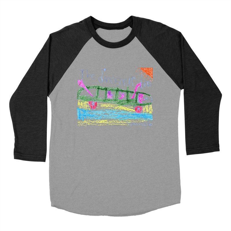 The Dinosaur Bus Women's Baseball Triblend Longsleeve T-Shirt by The Life of Curiosity Store