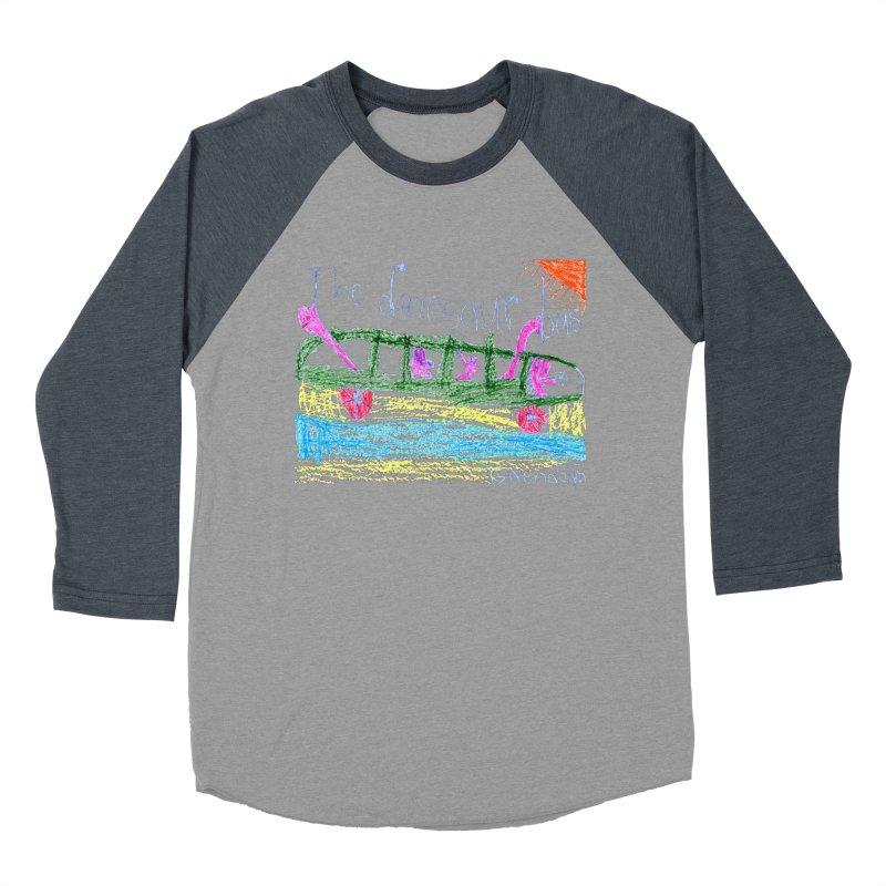 The Dinosaur Bus Women's Baseball Triblend Longsleeve T-Shirt by The Life of Curiosity Store