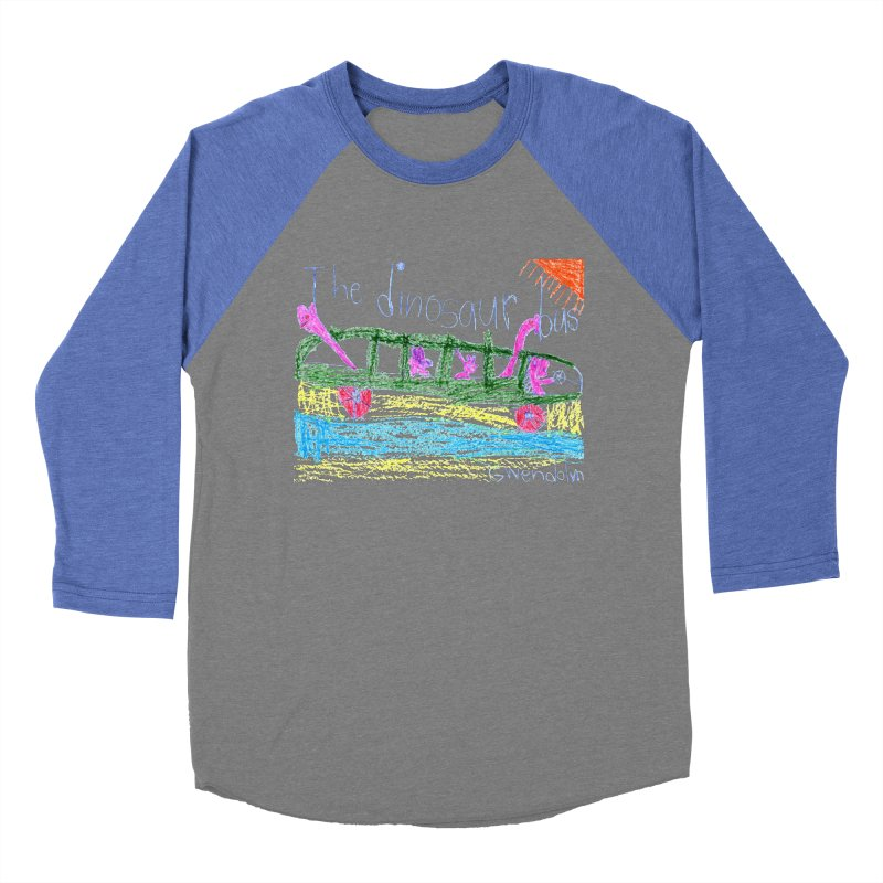 The Dinosaur Bus Men's Baseball Triblend Longsleeve T-Shirt by The Life of Curiosity Store