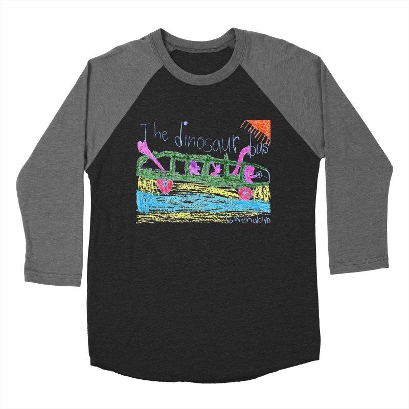 The Dinosaur Bus Men's Baseball Triblend Longsleeve T-Shirt by The Life of Curiosity Store