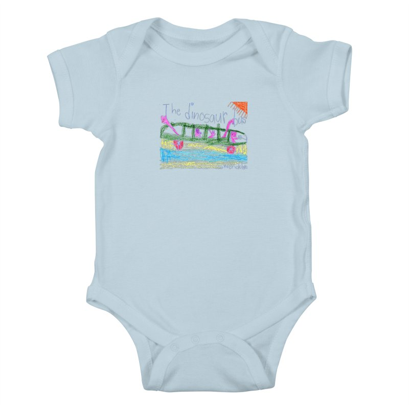 The Dinosaur Bus Kids Baby Bodysuit by The Life of Curiosity Store