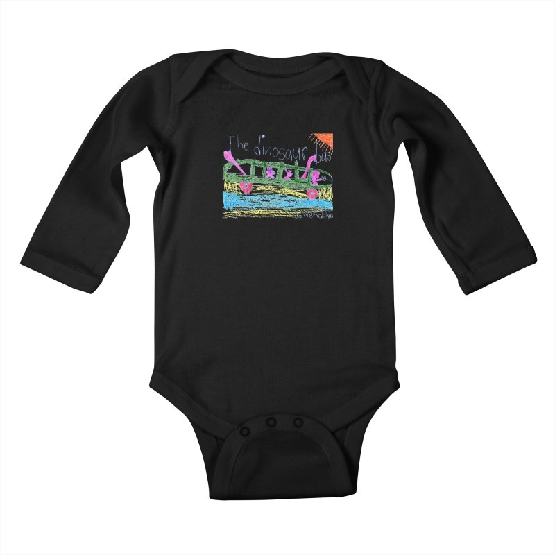 The Dinosaur Bus Kids Baby Longsleeve Bodysuit by The Life of Curiosity Store