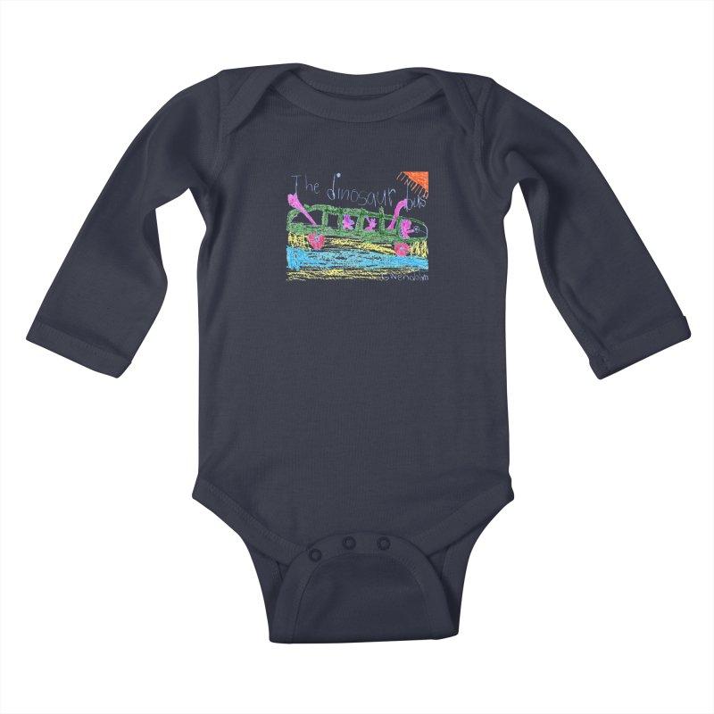 The Dinosaur Bus Kids Baby Longsleeve Bodysuit by The Life of Curiosity Store