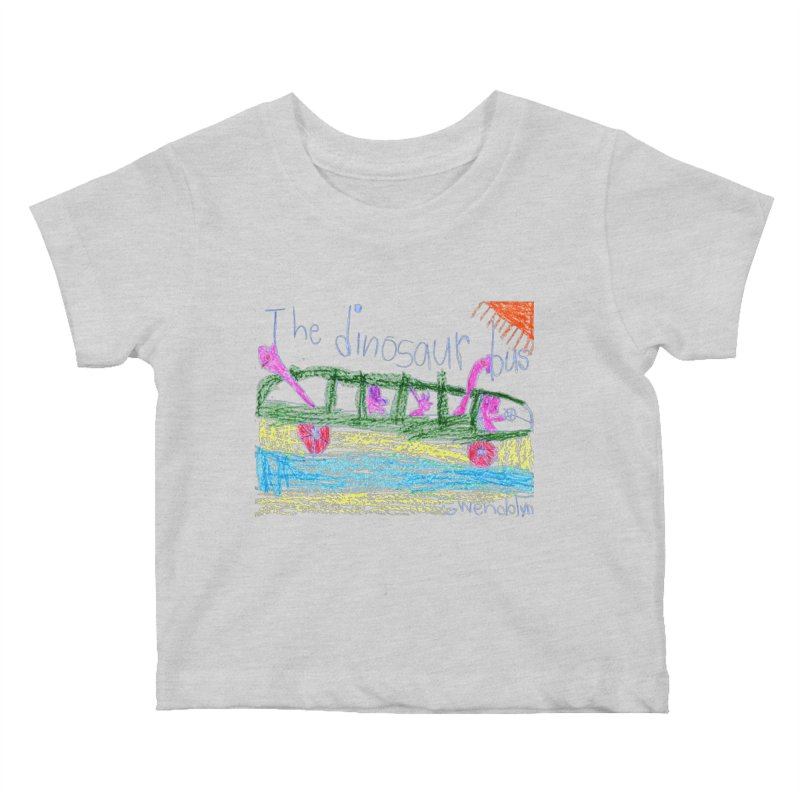The Dinosaur Bus Kids Baby T-Shirt by The Life of Curiosity Store