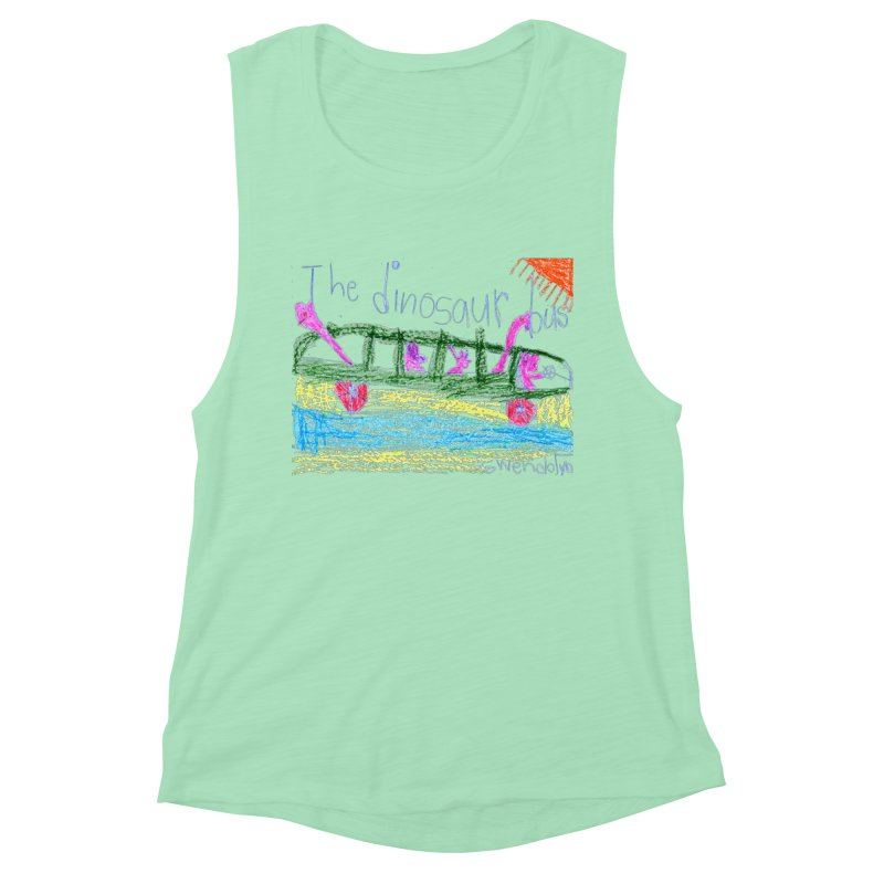 The Dinosaur Bus Women's Muscle Tank by The Life of Curiosity Store