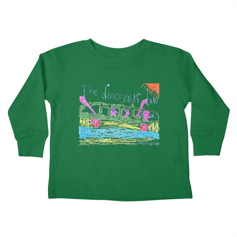 The Dinosaur Bus Kids Toddler Longsleeve T-Shirt by The Life of Curiosity Store