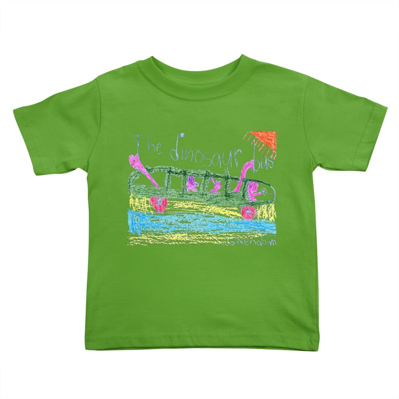 The Dinosaur Bus Kids Toddler T-Shirt by The Life of Curiosity Store