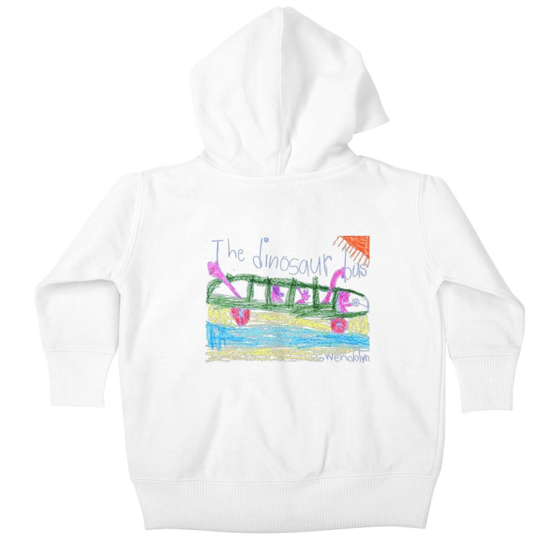The Dinosaur Bus Kids Baby Zip-Up Hoody by The Life of Curiosity Store