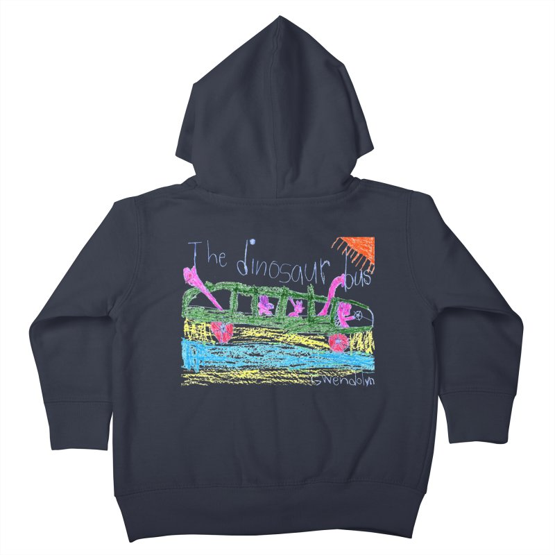The Dinosaur Bus Kids Toddler Zip-Up Hoody by The Life of Curiosity Store