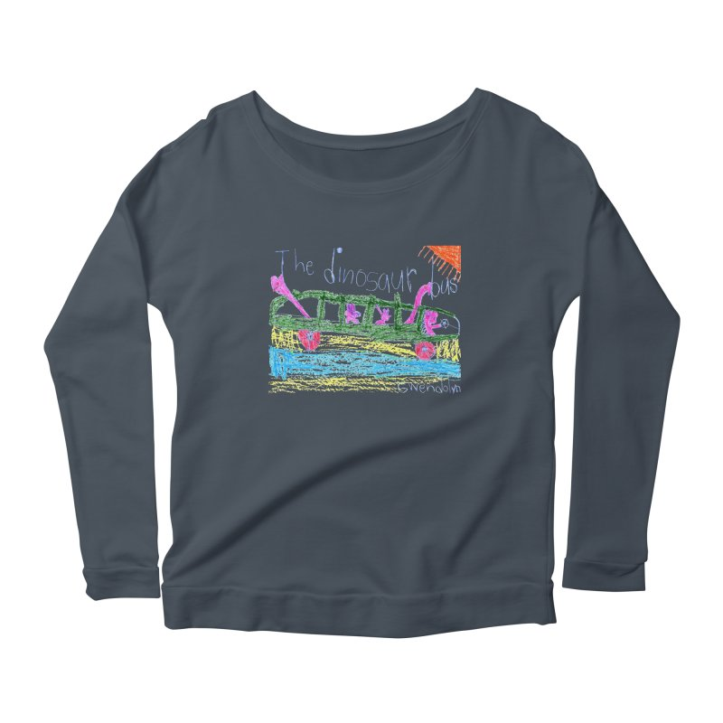 The Dinosaur Bus Women's Scoop Neck Longsleeve T-Shirt by The Life of Curiosity Store