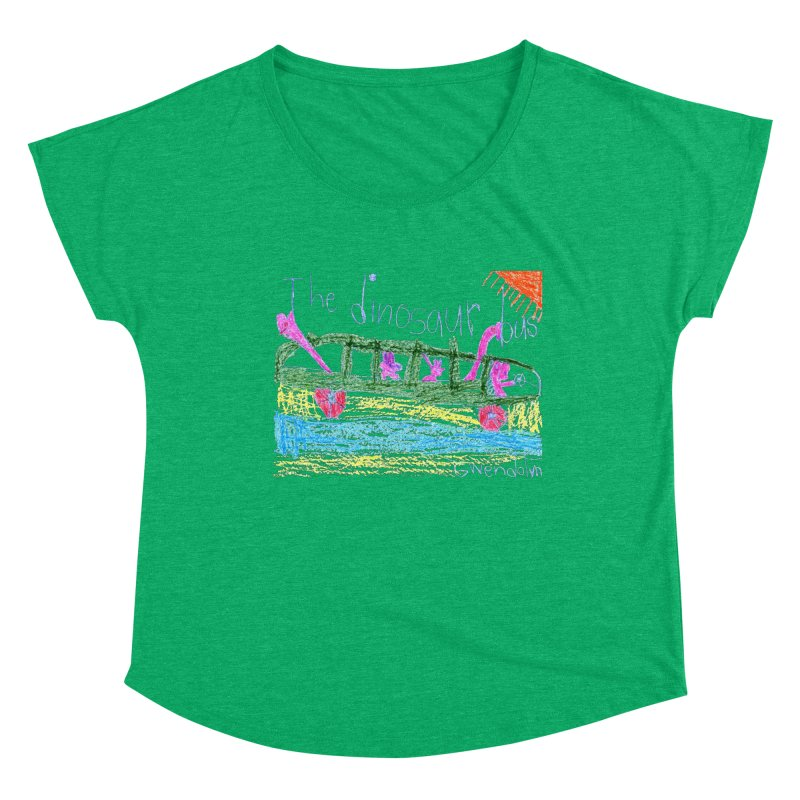 The Dinosaur Bus Women's Dolman Scoop Neck by The Life of Curiosity Store