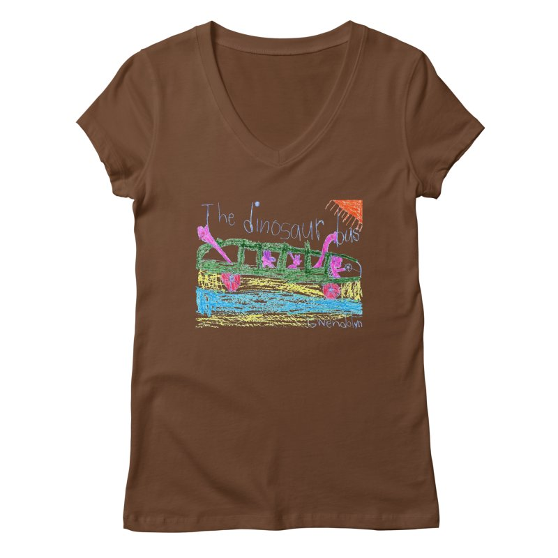 The Dinosaur Bus Women's V-Neck by The Life of Curiosity Store