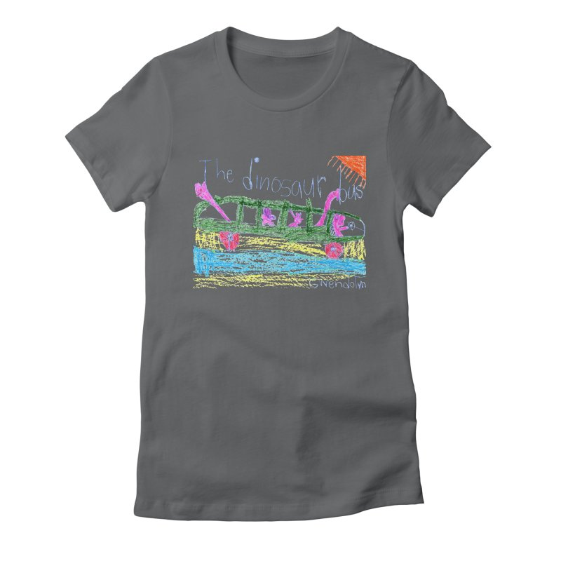 The Dinosaur Bus Women's Fitted T-Shirt by The Life of Curiosity Store
