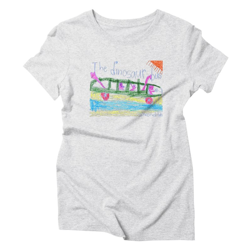 The Dinosaur Bus Women's Triblend T-Shirt by The Life of Curiosity Store