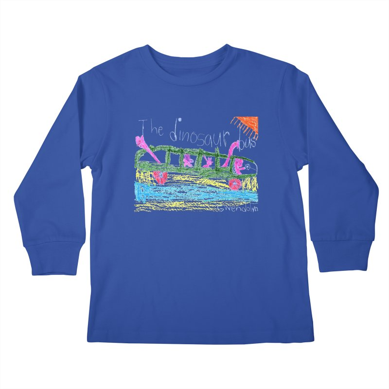 The Dinosaur Bus Kids Longsleeve T-Shirt by The Life of Curiosity Store