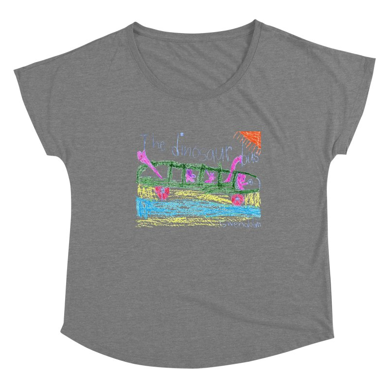 The Dinosaur Bus Women's Scoop Neck by The Life of Curiosity Store