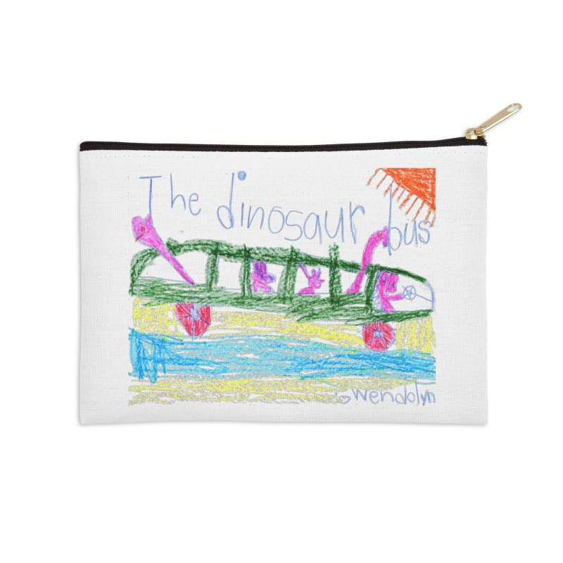 The Dinosaur Bus Accessories Zip Pouch by The Life of Curiosity Store
