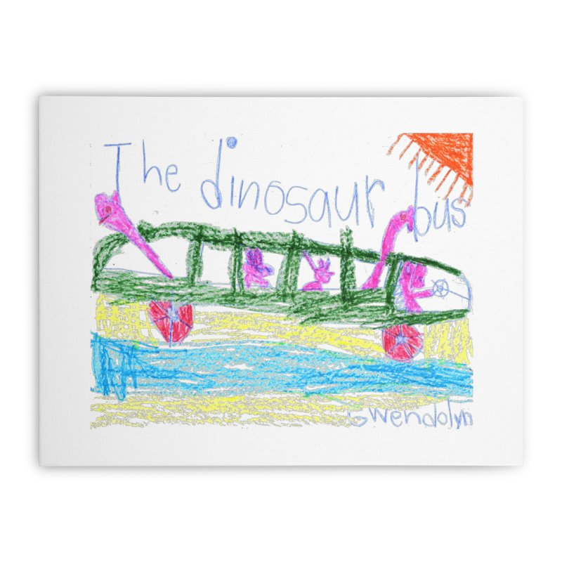 The Dinosaur Bus Home Stretched Canvas by The Life of Curiosity Store