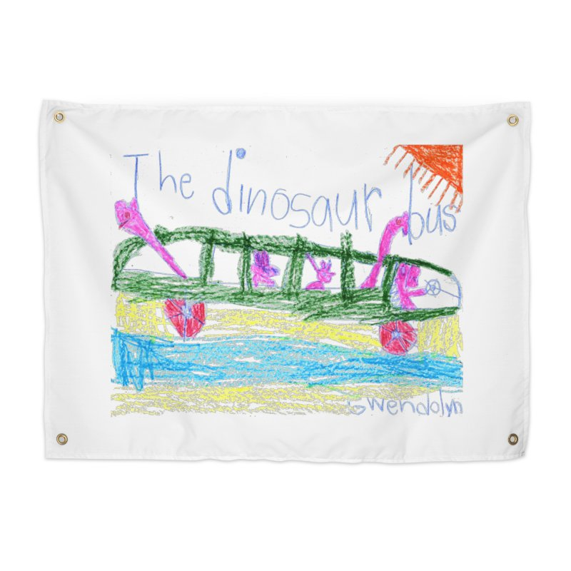 The Dinosaur Bus Home Tapestry by The Life of Curiosity Store