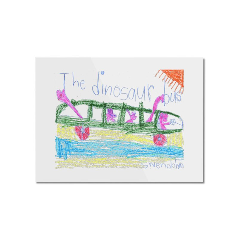 The Dinosaur Bus Home Mounted Acrylic Print by The Life of Curiosity Store