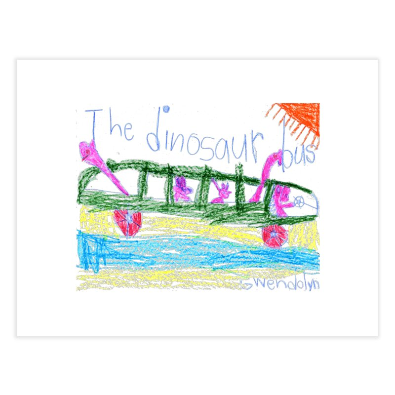 The Dinosaur Bus Home Fine Art Print by The Life of Curiosity Store