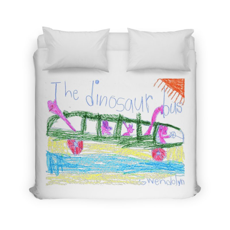 The Dinosaur Bus Home Duvet by The Life of Curiosity Store