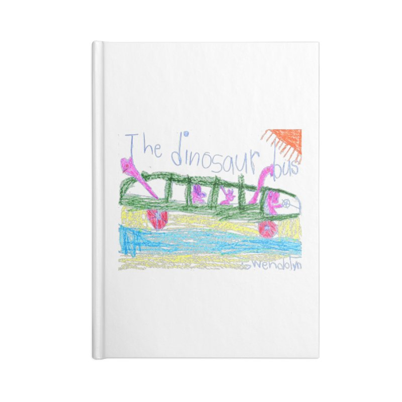 The Dinosaur Bus Accessories Blank Journal Notebook by The Life of Curiosity Store