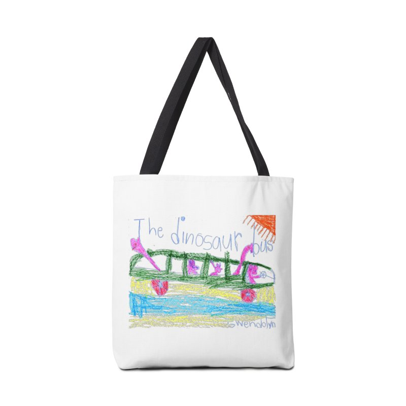 The Dinosaur Bus Accessories Tote Bag Bag by The Life of Curiosity Store