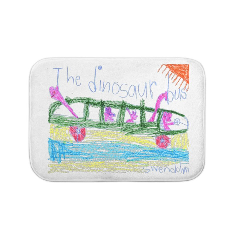 The Dinosaur Bus Home Bath Mat by The Life of Curiosity Store