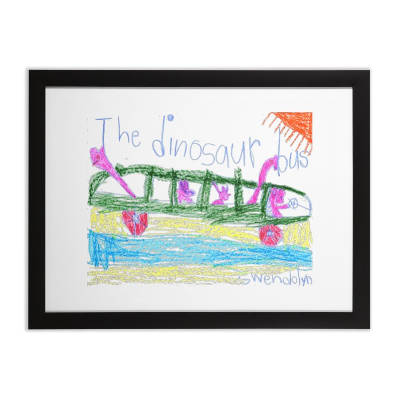 The Dinosaur Bus Home Framed Fine Art Print by The Life of Curiosity Store