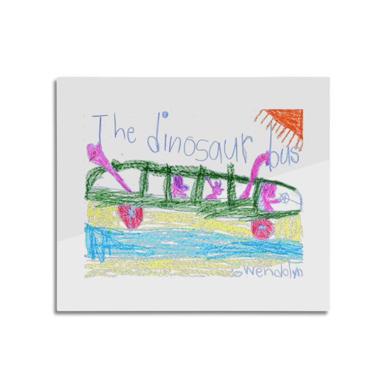 The Dinosaur Bus Home Mounted Aluminum Print by The Life of Curiosity Store