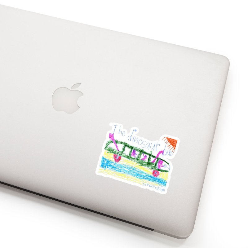 The Dinosaur Bus Accessories Sticker by The Life of Curiosity Store